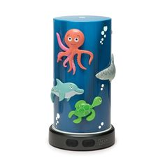 Deep Blue Sea, perfect to create a fun & effective tool to sooth in a child's room for day or night.  It has magnetic pieces so the child can create a unique look.