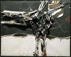 Manuel Millares Las Palmas de Gran Canaria, España, 1926 - Madrid, España, 1972  Cuadro 173   1962 Technique:  Mixed media on hessian Dimensions:  130 x 163 cm Category:  Painting Entry date:  1987  http://www.museoreinasofia.es/coleccion/obra/cuadro-173