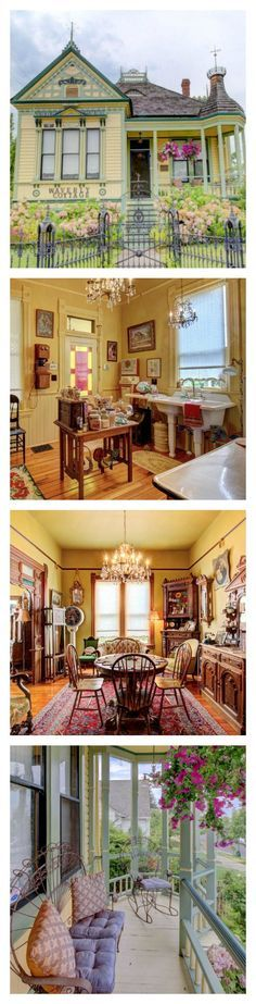 This little Medford cottage located in Oregon is full of dainty, vintage surprises! Dating to 1898, this home embodies a Victorian whimsy—from the custom, period-appropriate fence right up the hand-carved mahogany roof crests. Most of the interior furnishings are antiques, and if you love 'em, you have the option to buy 'em!