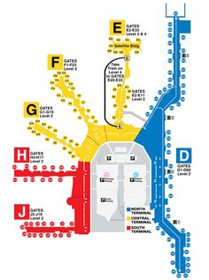 Miami International Airport :: Map.  Print this up before leaving.