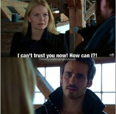 This scene broke my heart. Hook has done so much for Emma and her family, and here she is saying she doesn't trust him :'(   This scene really proves that Colin is an amazing actor
