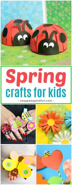 Super fun Spring Crafts for Kids. Fun craft ideas and crafts with printable templates.