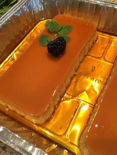 Leche Flan from my grandmother's recipe. Mix in large bowl 8 Egg yolks. 1 can Condensed milk. 1 can Evaporated milk with added 1 tbs Sugar. 1 tsp Vanilla extract. Make caramel sauce melt 1 cup sugar until golden brown add stir in slowly 3/4 cup water. Divide caramel sauce in 2 loaf pans. Add the flan mixture then cover each pan tightly with aluminum foil. Put pans in a heavy roasting pan filled with 1inch of water. cook in 350degree oven 1hr 40 min.  Invert on a plate then cover and Chill in…