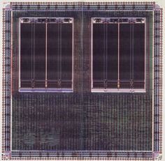 LSI Logic Corporation, Milpitas, CA. Diagram of application-specific integrated circuit (ASIC), and corresponding microchip. 1988