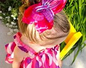 Hot Pink and Purple Butterfly Bow