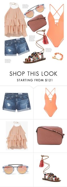 """""""Lunch @ The Beach"""" by hattie4palmerstone ❤ liked on Polyvore featuring AG Adriano Goldschmied, Tart, Balmain, Lanvin, Westward Leaning and Sam Edelman"""