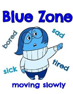 Zones of RegulationHelp students recognize when they are in different states called zones, with each of four zones represented by a different color and character from the Disney movie, Inside out.You may also be interested in the following:Inside Out Feelings BookInside Out-How Do You FeelInside Out Break Cards