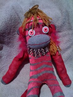 Meet Diva-licous our newest Upycled Sock Monkey- She is a fierce fashion diva fresh from the runways of Pepe and Sherina Designs Sock Monkeys, Diva Fashion, Upcycle, Socks, Meet, Fresh, Creative, Design, Upcycling