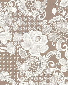 Simply Eclectic - Garden Lace - Taupe