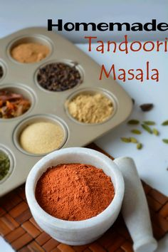 Make your very own Homemade Tandoori Masala with this simple and easy step by step recipe. Step by step recipe of Homemade Tandoori Masala powder Homemade Spices, Homemade Seasonings, Spice Blends, Spice Mixes, Masala Spice, Garam Masala, Comida India, Chicken Tikka Masala, Seasoning Mixes