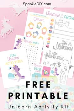 Free Printable Unicorn activity kit filled with coloring pages, a maze, and even a DIY unicorn crown! Keep your kids entertained with this fun activity pack. Unicorn Printables, Free Printables, Unicorn Crafts, Maze, Free Games, Fun Activities, Fun Crafts, Lifestyle Blog, Coloring Pages