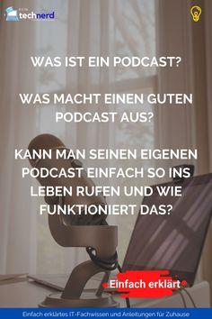 In diesem Beitrag möchten wir vielen spannenden Fragen rund um den – äußerst facettenreichen und zunehmend an Popularität gewinnenden – Podcast auf den Grund gehen. Was ist ein Podcast? Worum geht es? Was macht einen guten Podcast aus? Kann man seinen eigenen Podcast einfach so ins Leben rufen? Wie funktioniert das? Fragen über Fragen – im Folgenden werden wir die Thematik so umfassend beleuchten, dass du danach wirklich alles weißt, was du über Podcasts wissen musst. Rss Feed, It Wissen, Interview, Blog, Technology, Simple, Treasures Reading, English Words, Angela Merkel
