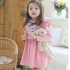 vestidos de flores de moda de vestidos de la muchacha de la caída de la princesa encantadora – MXN $ 246.60