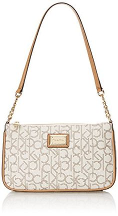 Calvin Klein Monogram Demi Shoulder Bag, Almond/Khaki/Cam-$86.52