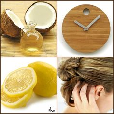 Natural Remedy for Dry Scalp -   Heat 1/2 C coconut oil Add juice of one lemon  Massage into scalp and leave for 20-40 minutes.  Shampoo and rinse.
