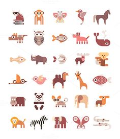 Check out Animal Icons by dan on Creative Market