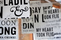 Typography inspired wedding! #weddingmonth #typography