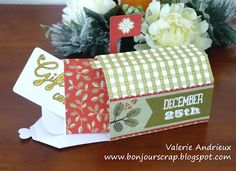 #Christmas mailbox as gift card holder #DCWV #Cricut #scrapbooking