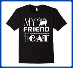 Mens My Best Friend Is A Cat T Shirt, Cat T Shirt, Cat Lover Tees Small Black - Animal shirts (*Amazon Partner-Link)