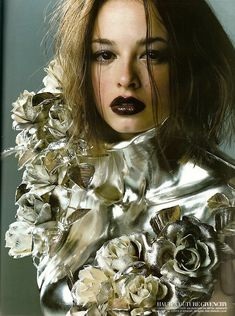"""Lara Belmont in """"La Couture Nature"""", photographed by Satoshi Saikusa and styled by Isabella Blow for Vogue Paris March 2000 Givenchy by Alexander McQueen Couture Fashion, Fashion Art, High Fashion, Fashion Design, Timeless Fashion, 2000s Fashion, Fashion Story, Couture Details, Fashion Details"""