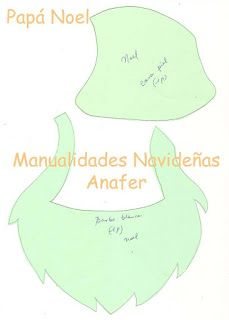 Manualidades Anafer: Moldes Cilantro, Pattern, Christmas, Cards, Diy, Ideas, Bed Skirts, Wreaths, Christmas Ornaments