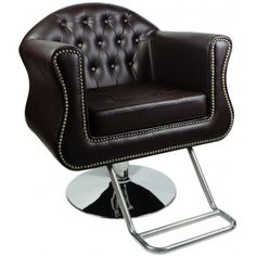 """""""Young"""" Black Styling Chair with Round Base Large U Shape, angle"""