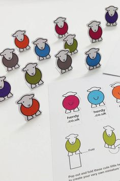 New shop info cards have arrived. Collect your own pop-up flock! =) #herdy #herdwick #sheep #lakedistrict