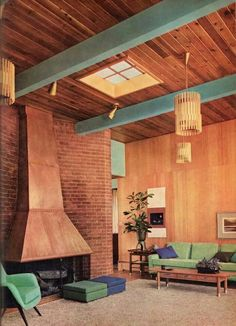 Love this mid century living room featured in the 1960 Better Homes & Garden Decorating Ideas book! 1960s Interior, Mid-century Interior, Interior And Exterior, Interior Design, Scandinavian Interior, Kitchen Interior, Modern Interior, Modern Furniture, Midcentury Modern