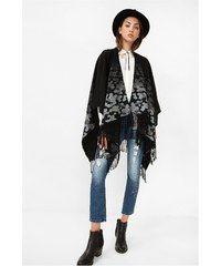 Desigual černé pončo New Blondie Duster Coat, Kimono Top, Jackets, Outfits, Tops, Women, Happy, Fashion, Vestidos