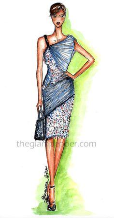 Fashion illustration| Christian Dior Spring 2014 | http://www.theglampepper.com/2014/10/06/illustration-christian-dior-spring-2014/