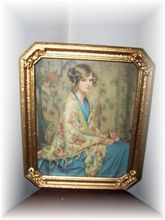 Items similar to A Beautiful Home Decor Framed Print of Alice Blue Gown on Etsy