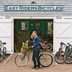 Our bike shop on beautiful Nantucket Island is filled with vintage bicycle posters. #Nantucket #biking #travel www.easyridersbikerentals.com