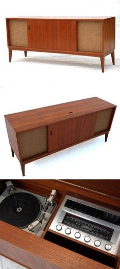 Shop LG Channel DVD Home Cinema System. Record Player Cabinet, Stereo Cabinet, Cabinet Space, Retro Furniture, Mid Century Modern Furniture, Home Furniture, Painted Furniture, Vintage Stereo Console, Radios