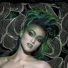 "Naima Mora [Close-Up], ""Envy"" . America's Next Top Model, Cycle 4 >  Photo Shoot 7: 7 Deadly Sins in a graveyard"