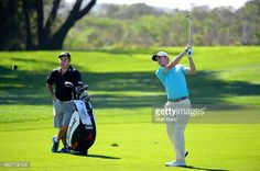 Justin Thomas hits a shot during practice for the Farmers Insurance Open at Torrey Pines Golf Course on February 2015 in San Diego, California. Justin Thomas, Torrey Pines, San Diego, Golf Courses, Shots, February 3, Running, Farmers, California