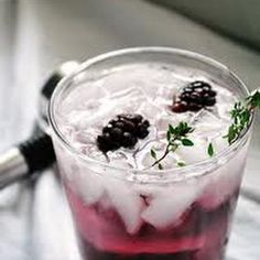 Blackberry Thyme Gin Fizz by Christine W - Key Ingredient Blackberry Gin Fizz, Ginger Cocktails, Cinnamon Tortillas, Tasty, Yummy Food, Recipe Ratings, Ginger Ale, Food Safety, Vanilla Ice Cream