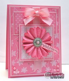 Pretty Pink - with link to fan fold flower