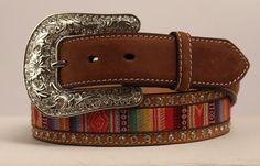 NOCONA - Women's Belt - Ribbon Inlay / Crystal Trim - ( N3426244 ) - New