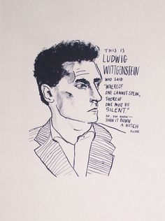 Ludwig Wittgenstein poster print Famous by StandardDesigns on Etsy