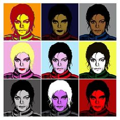 Michael #Warhol styled in his different stages