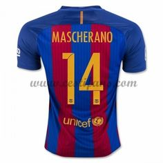 Barcelona Fotbalové Dresy 2016-17 Mascherano 14 Domáci Dres