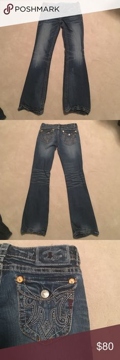 MEK Denim Boot Cut Jeans. Size 27 DESIGNED EXCLUSIVELY FOR BUCKLE. RIGA boot cut 27w 32l. MEK Jeans Boot Cut