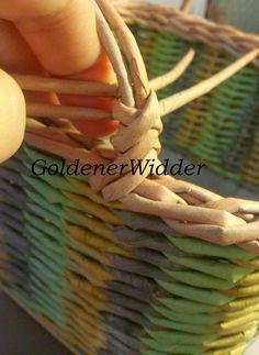 fül Плетение из газетных трубочек: Боковые ручки к корзинке, в основании вставлена проволока. Ручка. Проволока. Колосок.