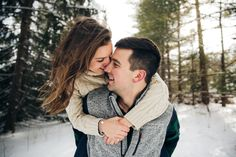 Gorgeous couple photo session in Michigan by Samantha Rice Photography. Loved this winter wonderland styled shoot and the beautiful green pine trees! For more portraits, engagement sessions, family sessions and styled shoots head to www.samantha-rice.com or @samantharicephotography on Instagram.