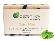 Cedar Lime Soap 100 Natural Organic With Organic Shea Butter Organic Olive Oil Scented With Pure Essential Oils GMO Free Preservative Free Handmade 45 oz Bar *** Check out this great product. Organic Body Wash, Organic Skin Care, Organic Aloe Vera, Organic Soap, Best Face Products, Pure Products, Luxury Soap, Organic Living, Cold Process Soap