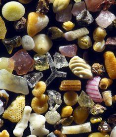 Sand on microscope