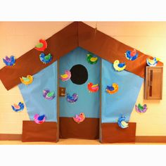 Birdhouse for classroom door. Great for Spring!