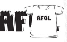 """AFOL IN BLACK BRICKS by Customize My Minifig"" Kids Clothes by ChilleeW 
