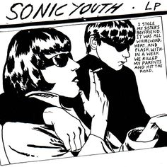 "Sonic Youth world famous ""Goo"" album, 1990. Raymond Pettibon's artwork named ""Blowjob"", as the album itself was intended to be called - jokingly - by the band while recording demos for it."