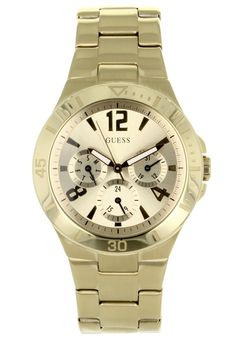 Price:$124.11 #watches Guess W13545L1, Stainless steel case, Stainless steel bracelet, Gold dial, Quartz movement, Scratch-resistant mineral, Water resistant up to 10ATM - 100 meters - 330 feet Stainless Steel Bracelet, Stainless Steel Case, Gold Watch, Guess Watches, Quartz, Mineral Water, Vespa, Bracelets, Accessories